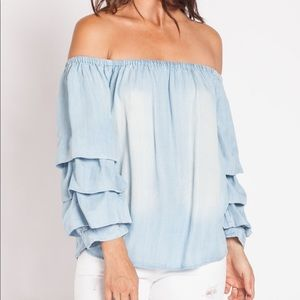 Over the shoulder blouse